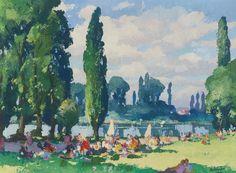 """fleurdulys: """"La dejeuner au bord de la Riviere - Gaston Balande """""""