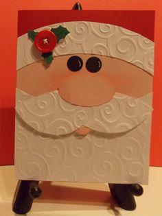 Handmade Santa Christmas Card