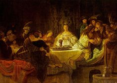 Samson At The Wedding Artwork By Rembrandt Van Rijn Oil Painting & Art Prints On Canvas For Sale Rembrandt Art, Rembrandt Paintings, Free Art Prints, Canvas Art Prints, Art Occidental, Baroque Art, Religious Paintings, Biblical Art, Classic Paintings