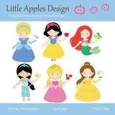 Princess Clip Art / Princess Clipart /  Disney Princesses Clipart / Disney Princesses Clip Art  / Commercial & Personal