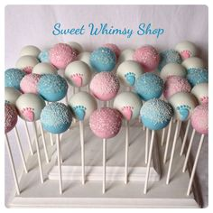Gender Reveal Party 12 Baby Face Cake Pops for baby shower gender by SweetWhimsyShop Twin Gender Reveal, Gender Reveal Party Games, Gender Reveal Party Decorations, Gender Party, Baby Shower Gender Reveal, Reveal Parties, Gender Reveal Food, Gender Reveal Cupcakes, Deco Baby Shower
