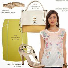 Como usar camiseta floral - 1 camiseta floral = 4 looks