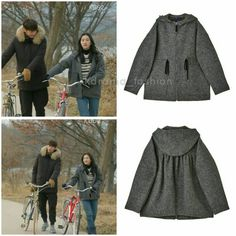 """440 lượt thích, 2 bình luận - @kdrama_fashion trên Instagram: """"Soo Ae wore LUCKY CHOUETTE Zip-Up Hood Short Coat _ Gray ₩498,000 in Sweet Stranger and Me Drama…"""" Sweet Stranger And Me, Kdrama, Zip Ups, Korean, Movie, Coat, Instagram Posts, How To Wear, Fashion"""