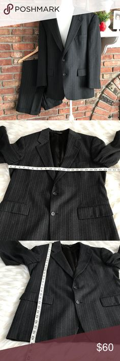 Brooks Brothers Men's Suit Size 42S In excellent preowned condition. All measurements are in photos. Tag from pants was removed but I added pictures of measurements. Handsome Suit. Brooks Brothers Suits & Blazers Suits