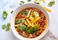 Easy Black Bean Tortilla Soup: When you have no time, but want a really delicious and warming bowl of soup, this is the recipe for you!