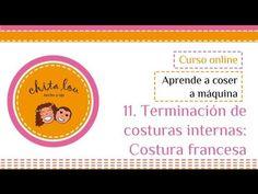 Terminación de costuras internas: Costura francesa. Curso online Aprende a coser a máquina - YouTube
