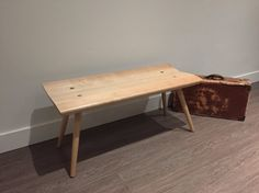Maple Bench - wooden bench Wood Benches, Entry Hallway, Foot Of Bed, Solid Wood, Simple, Table, Furniture, Home Decor, Wooden Benches