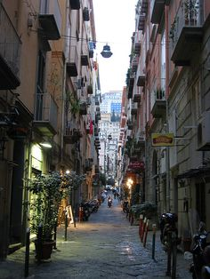 Evening Streets of Naples, Italy