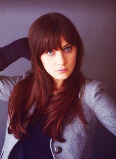 Zooey Deschanel's layers and #hair color #NewGirl