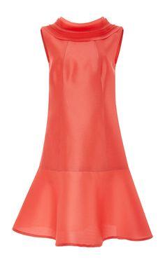 Sleeveless Heavy Gazar Mini Dress by CAROLINA HERRERA for Preorder on Moda Operandi