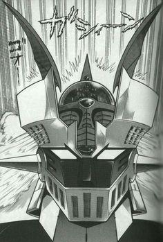 Z Mazinger by Go Nagai & Dynamic Pro Manga Anime, Old Anime, Comic Books Art, Comic Art, Sketch Manga, Robot Cartoon, Retro Cartoons, Arte Horror, Batman Comics