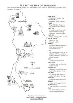 Free Thailand Activity Map Download from Nancy Chandler. #thailand