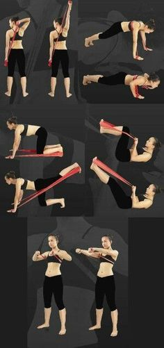 """""""> exercise by elastic band -> für Pilates Sonderangebote klicken! The Effective Pictures We Offer You About pilates workout A quality picture can tell you many things. Fitness Workouts, Yoga Fitness, Band Workouts, At Home Workouts, Fitness Tips, Health Fitness, Fitness Band, Pilates Band, Pilates Workout Videos"""
