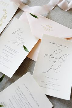 Organic and simple letterpress wedding invitation with torn/deckle edge by Blue Eye Brown Eye | Photo by Hannah Williams Photography