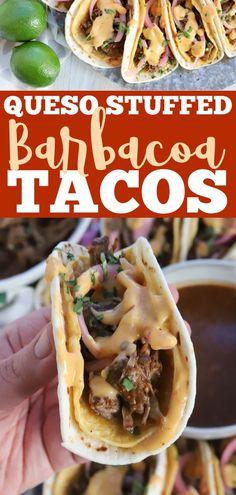Meat Recipes, Mexican Food Recipes, Crockpot Recipes, Mexican Meals, Mexican Dishes, Yummy Recipes, Healthy Recipes, Beef Barbacoa, Beef Chuck Roast