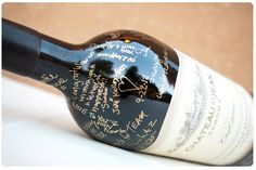 wine bottle wedding guest book