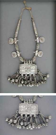 Oman | Heavy antique silver Bedouin necklace | Early to mid 20th century