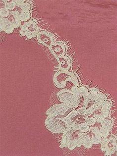 PBR85017 Ivory Alencon Lace Trim - Bridal Fabric by the Yard