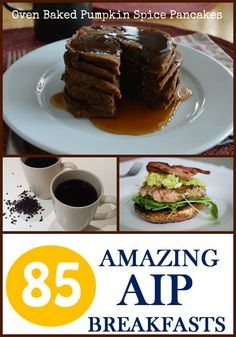 Oven Baked Pumpkin Spice Pancakes from 85 Amazing AIP Breakfasts - Gutsy By Nature