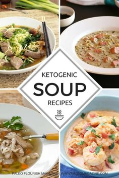 Get this list of Ketogenic Soup Recipes here. Your favorite soup recipes made Keto so you can have healthier starters that are also easy to make.