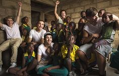 Newly released photo of the boys in Ghana, I can't help but smile at this!!
