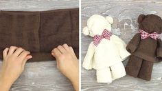 Learn the super easy way to turn your old towels in a cute cuddly toy