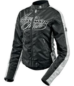 Icon Street Angel Jacket.  Fits well, but god forbid the sun comes out wearing this.