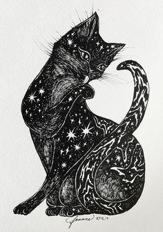 psychedelic cat art - Buscar con Google