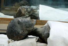 After 3,000 years and DNA analysis, scientists have proved that, from foreground to background, these mummies are of King Tut's mother, whose name is unknown, grandmother Queen Tiye, and his father, the pharoah Akhenaten
