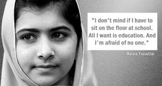 So brave, such an inspiration. Wishing you a speedy recovery Malala.
