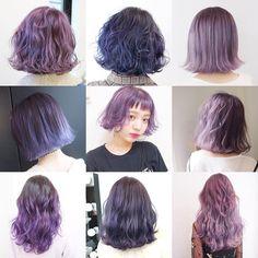 Hair Color Balayage, Ombre Hair, Green Hair, Purple Hair, Curly Hair Tips, Curly Hair Styles, Korean Hair Color, Fantasy Hair, Hair Dye Colors