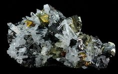 Pyrite, Chalcopyrite, Sphalerite & Quartz  Huaron Mines, Huaron Mining District, Huayllay District, Pasco Province, Pasco Department, Peru