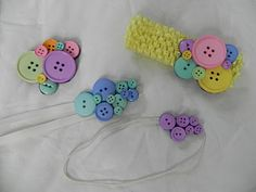Button Clips and Headbands