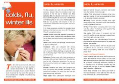 Colds Flu &  Winter Ills by Owen Homoeopathics via slideshare