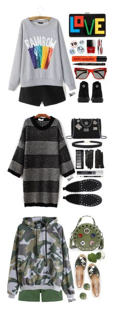 """""""Shein collection"""" by simona-altobelli ❤ liked on Polyvore featuring Les Petits Joueurs, Bing Bang, NYX, L'Oréal Paris, Preen, Smith & Cult, Humble Chic, Ted Baker, Christian Dior and The Body Shop"""