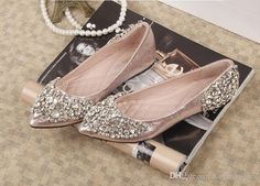 2015 rhinestones wedding shoes Bridal Shoes with Bling Sequins Crystal Low  Heel Women Shoes Wedding Shoes 42ff8294a