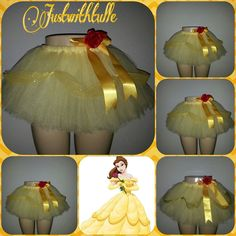 PRINCESS BELLE DISNEY Tutu by Justwithtulle on Etsy, $34.00