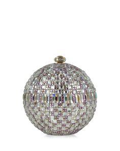 Judith Leiber Couture New Sphere Crystal Minaudiere, $3,995; neimanmarcus.com   - ELLE.com