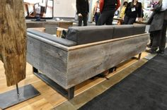 wood couch, north on sixty woodworking by cristina