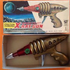 Space Pilot x Ray Gun 60's Made in Japan Friction Toy w Box | eBay