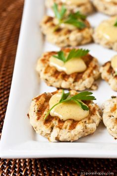 Grilled Crab Cakes ...get the #recipe at www.paninihappy.com