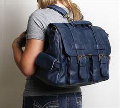 Epiphanie Navy London camera + iPad + laptop backpack messenger bag