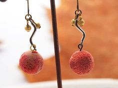 Coral earing/sponge coral/light pink by Morningtonight on Etsy