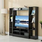 Home Entertainment Cabinet TV Stand Media Center Console Wood Storage Furniture
