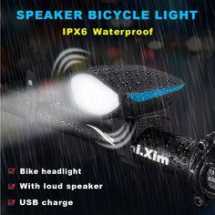Lautsprecher Fahrrad Licht Vorne Und Hinten Mit Horn Wasserdicht USB Lade  Fahrrad Scheinwerfer Super Helle LED a89c8f38a9