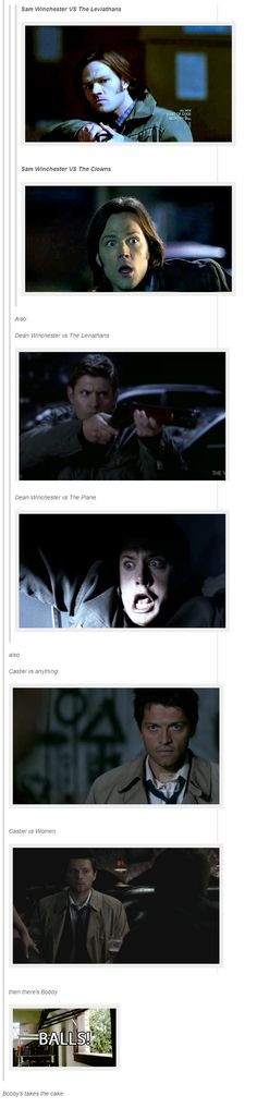 Pretty much. They should have had the one where Dean was afraid of everything and the cat jumped out at him. :P