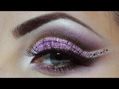 Prom makeup (pink,purple,brown and glitters)