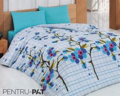 Set cuvertura pat pentru o persoana Anatolia light blue Comforters, Light Blue, Blanket, Bed, Home, Creature Comforts, Quilts, Stream Bed, Ad Home