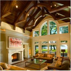 vaulted beamed ceilings | Heavy Beam and Wood Vaulted Ceilings