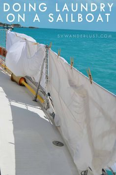 Doing Laundry on a Sailboat - The Down and Dirty with Seawater Laundry
